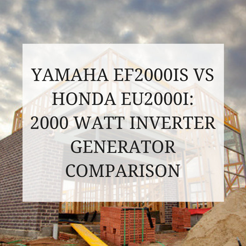 Yamaha EF2000IS vs Honda EU2000I: 2000 Watt Inverter