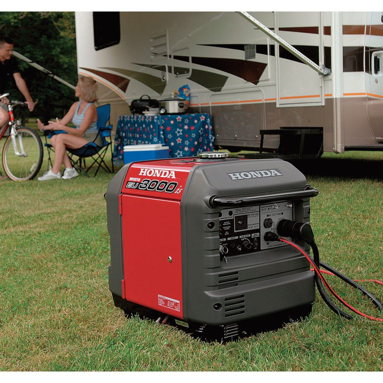 Inverter generator honda eu7000is watt portable quiet for Honda vs yamaha generator