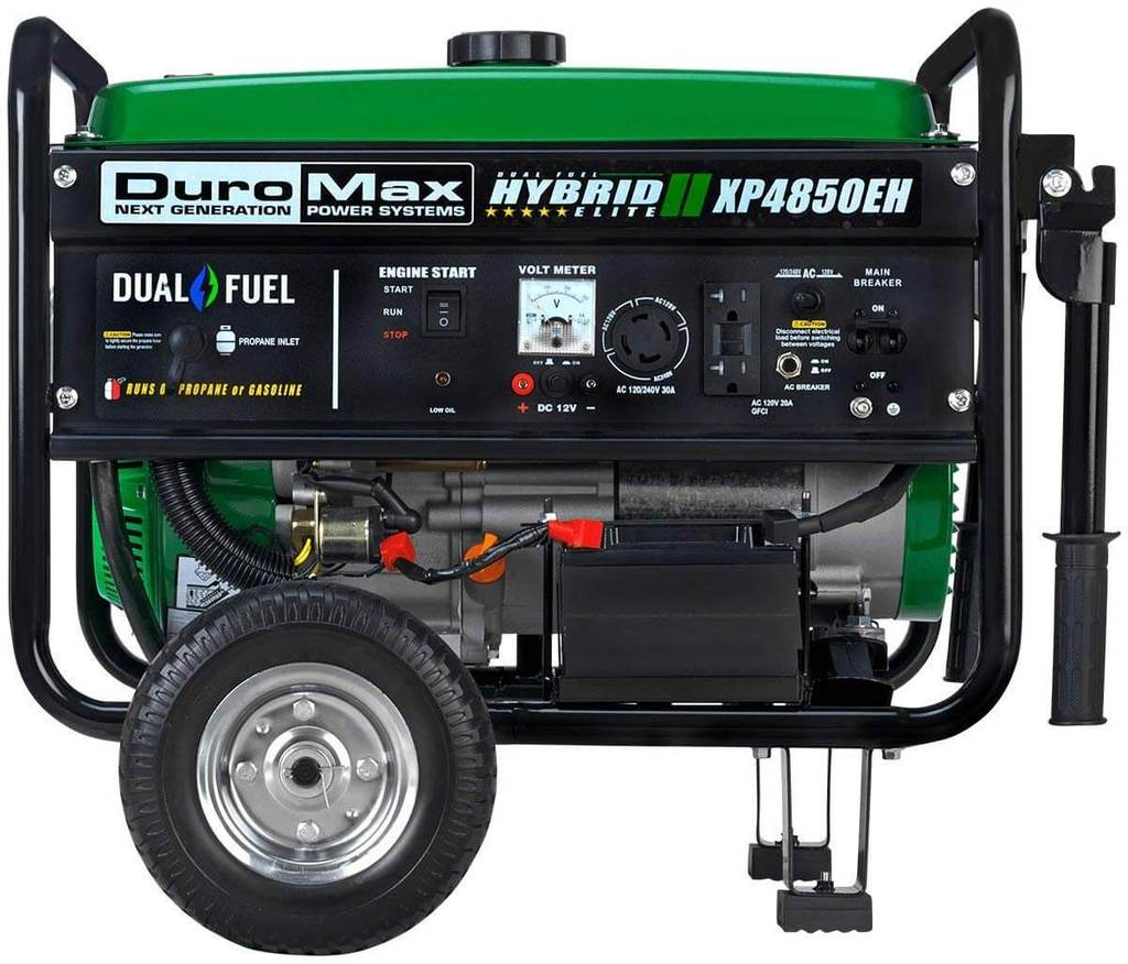Best Dual Fuel 30A Amp Generator Duromax XP4850EH 7