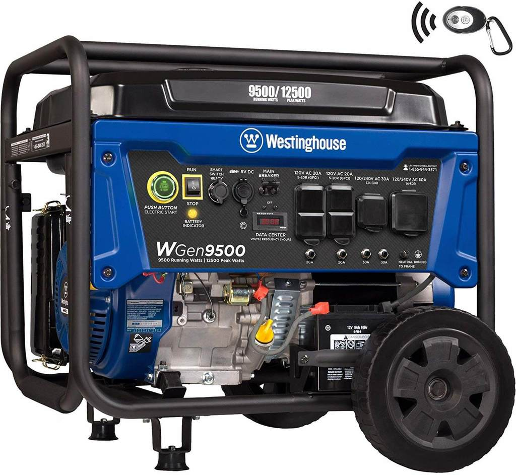 Westinghouse WGen9500 Heavy Duty Powerful Portable Generator