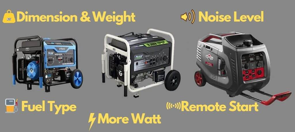 best portable generator buying factors